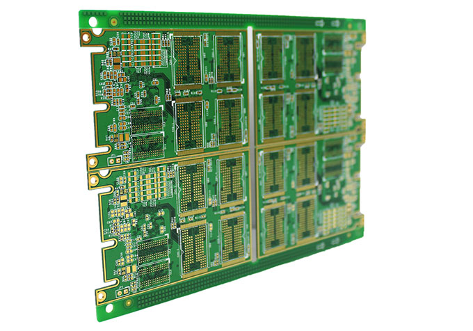 10 Layer PCB Circuit Board with Impedance Control and Holes Plugged with Resin