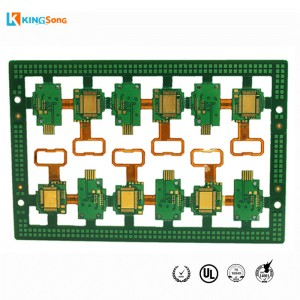 4 Layer FPC + FR4 Gabungan kaku Flexible PCB Produsen