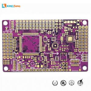 Purple Solder Mask 4 Layers Gold Plated PCB Board Fabrication Services