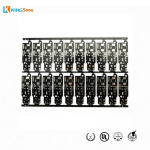 Advanced FR4 Material Black Soldermask PCB Board manufacturer