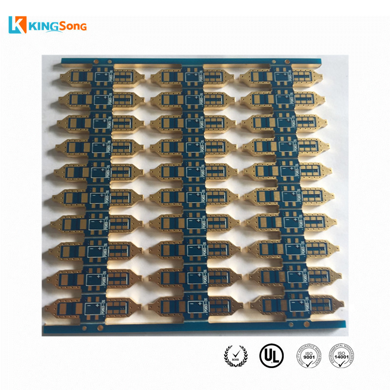Best LED PCB FR4 2.5mm thickness 2 Layer ENIG Surface Finishing With Edge Plated Used For Auto Lights