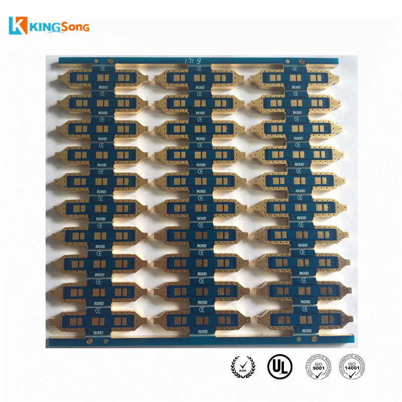 Best LED PCB Manufacturer FR4 2.5mm thickness 2 Layer ENIG Surface Finishing With Edge Plated Used For Automotive Lighting