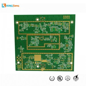 Custom 6 Lapisan Rogers + Manufacturing FR4 Mix Stack Up papan litar PCB