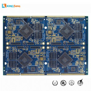 Custom 8 lapisan High Kapadhetan Pengolahan Board PCB pc