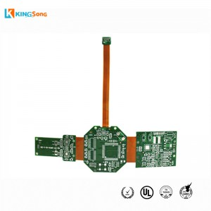 Multi Lapisan Dicetak Technologies Circuits Board-Flex kaku