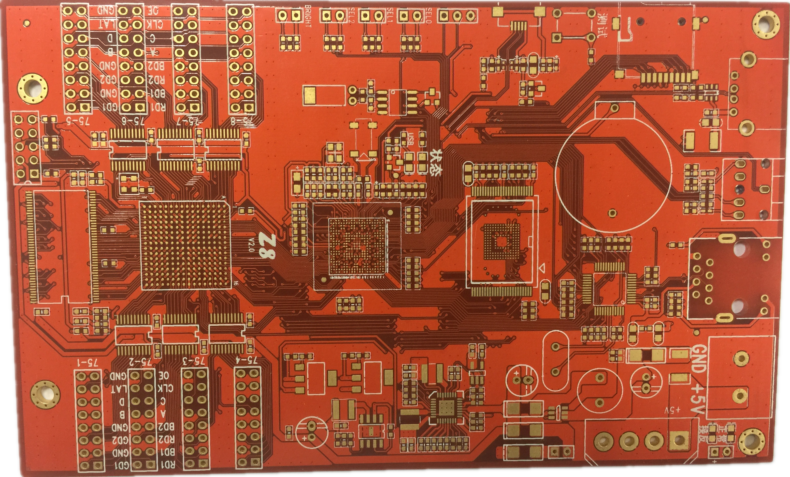 Professional Design Gold Metal Detector Circuit Prototype Pcb Printed Board Manufacturer Buried Blind Via For Sale Manufacturing