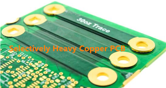 Selectively Heavy Copper PCB
