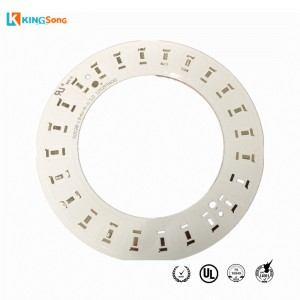 White Solder Mask And Round Shape Aluminum PCB Board Manufacturer